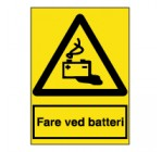 Fare ved batteri - A300121